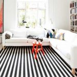 The Significance Of Black And White   Striped Rug