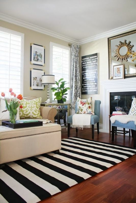 A New Living Room Rug: Stripes for the Win | HOME BLOGGER DECOR