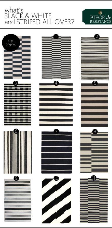 black-white-stripe-rugs copy | Rugs | Pinterest | Black white rug