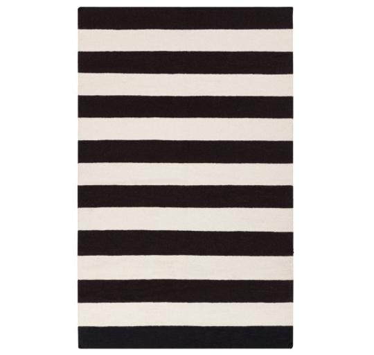 Get the Look: Black & White Stripe Rug | DREAM ROOM