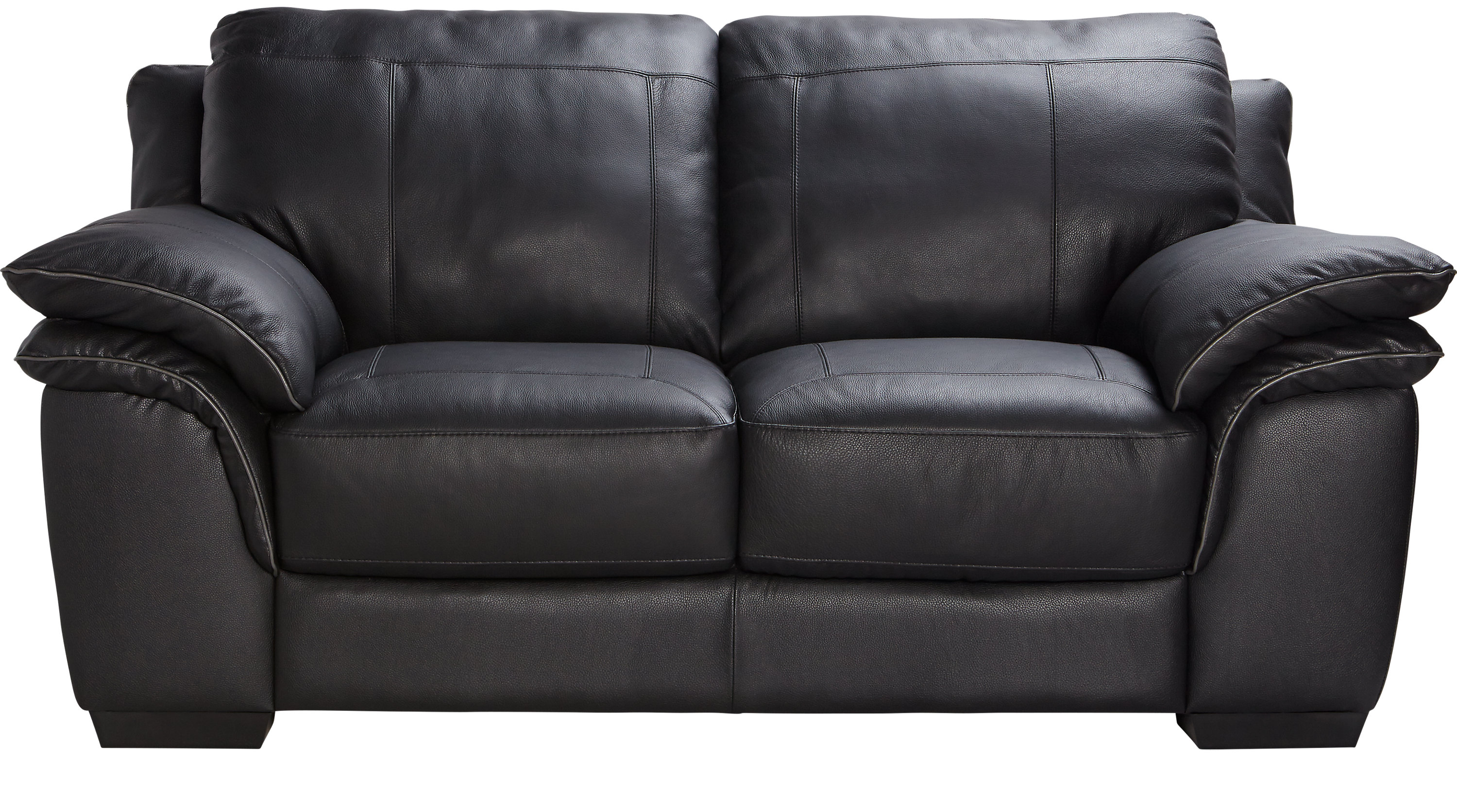 $879.99 - Grand Palazzo Black Leather Loveseat - Classic - Contemporary,