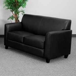 Black Leather Loveseats You'll Love | Wayfair