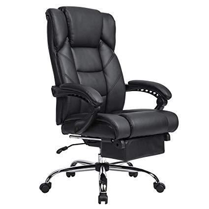 Amazon.com : KADIRYA Reclining Leather Office Chair - High Back