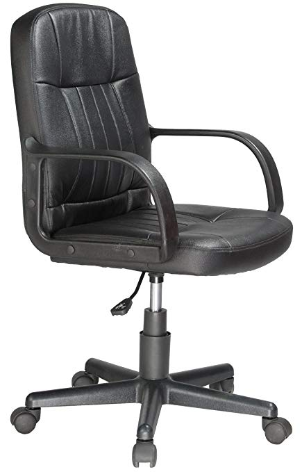 Amazon.com: Comfort Products Mid-Back Leather Office Chair, Black