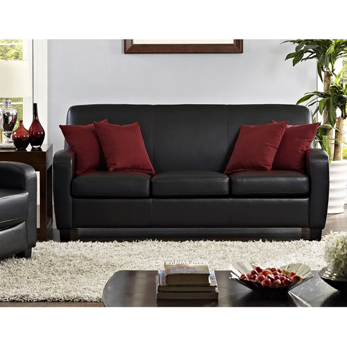 A little something about black leather   sofas