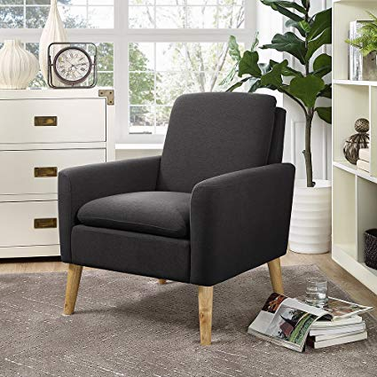 Amazon.com: Lohoms Modern Accent Fabric Chair Single Sofa Comfy