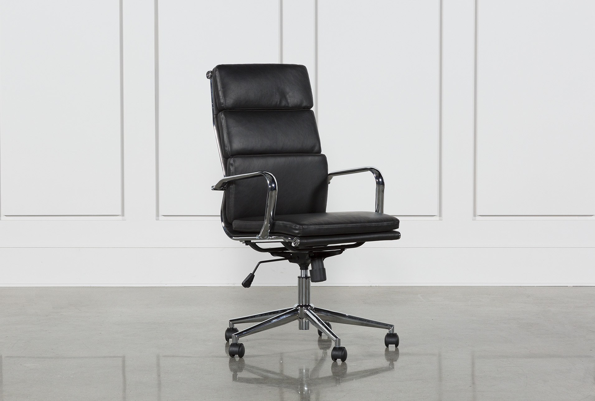 Moby Black High Back Office Chair | Living Spaces