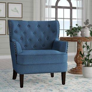 Blue & White Accent Chairs You'll Love | Wayfair