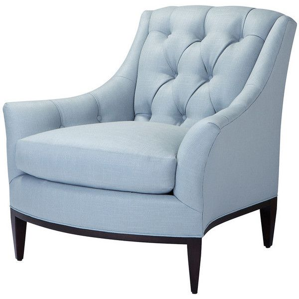 Accent Chair, Light Blue - Contemporary - Armchairs And Accent