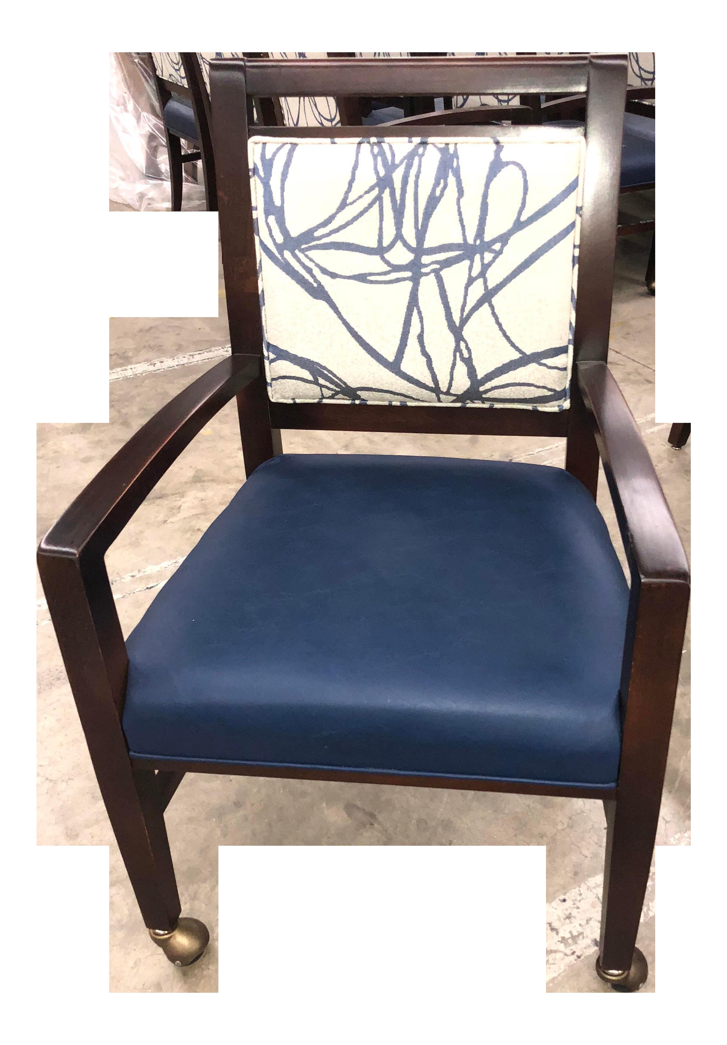 Traditional Fairfield Preston Navy Blue Occasional Chair | Chairish