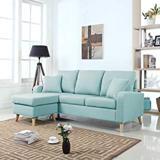 Amazon.com: Blue - Sofas & Couches / Living Room Furniture: Home