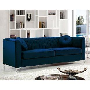 Modern & Contemporary Royal Blue Sofa   AllModern
