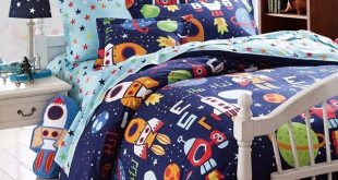 Boys Bedding Sets Space Adventure Bedding Set 100% Cotton Queen Size