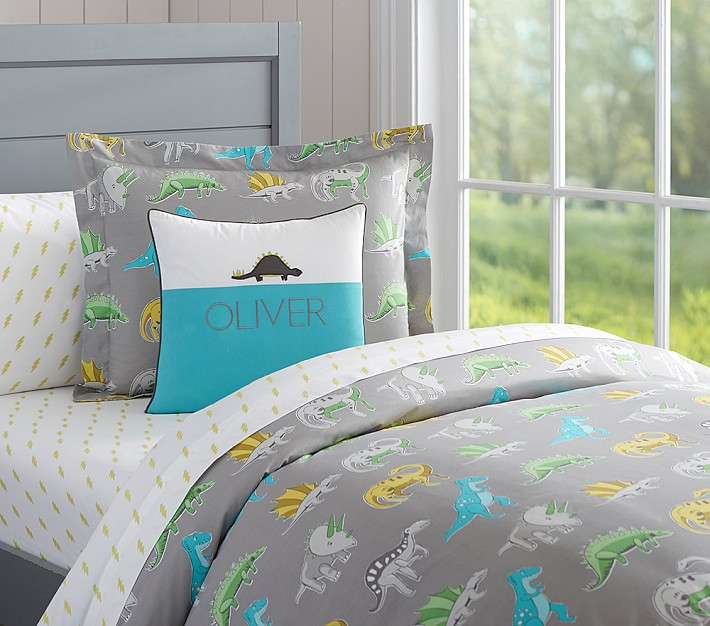 Dinos Duvet Cover | Pottery Barn Kids