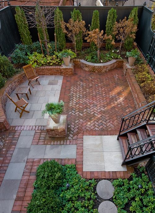 Stone Patio Designs Ideas | In the Garden | Pinterest | Brick patios