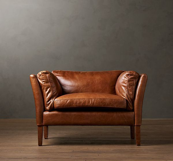 Elegant Leather Chair | Home Decor | Brown leather chairs, Leather
