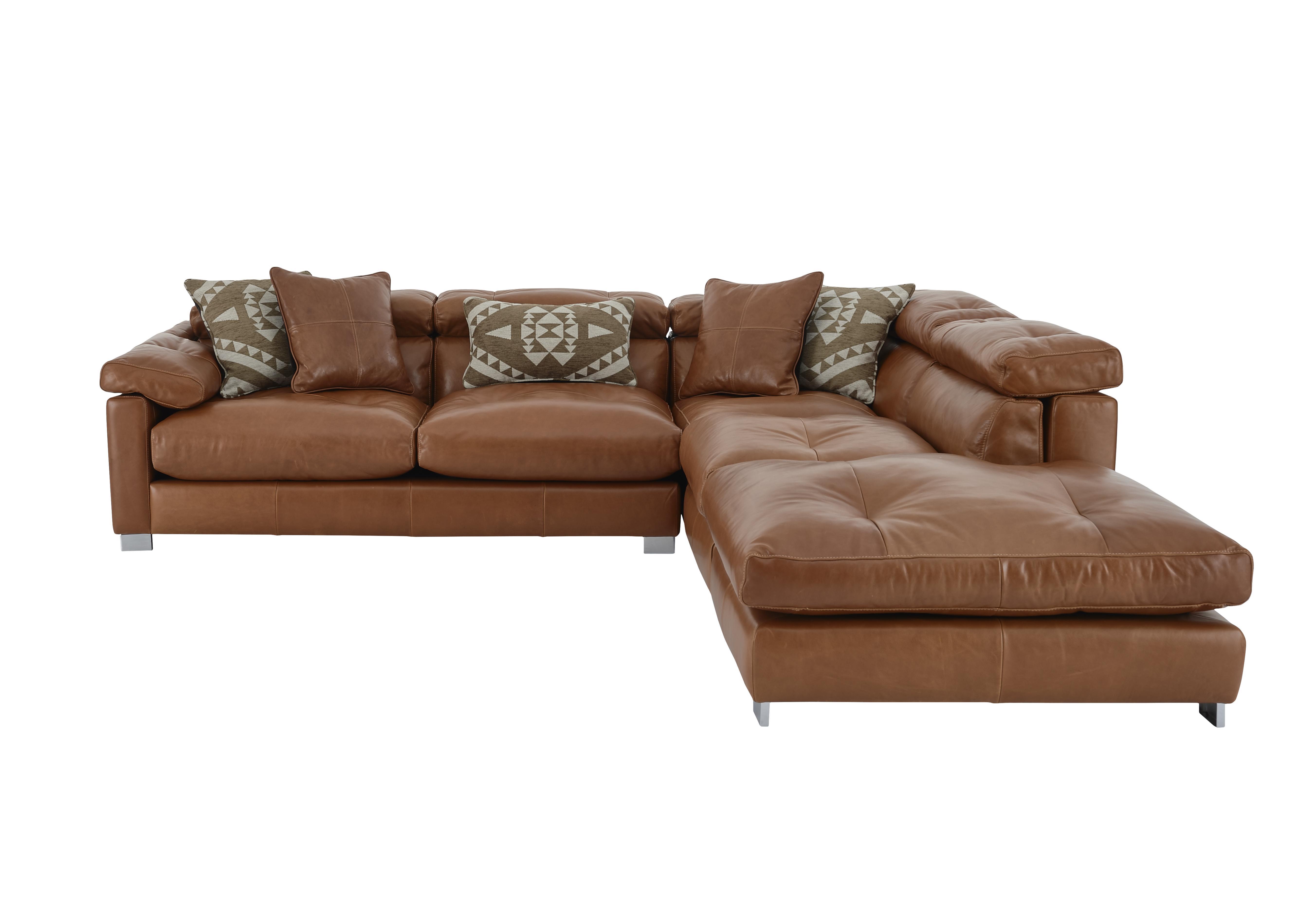 Fusion Leather Corner Sofa - Furniture Village