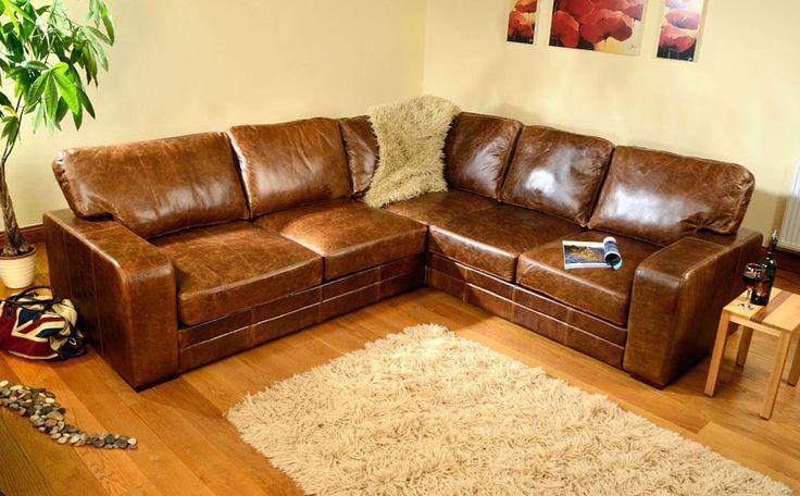 Brown Leather Corner Sofa chic brown leather corner - Home Design