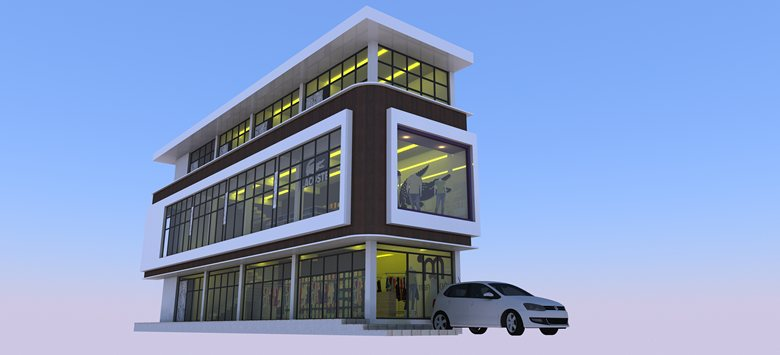Commercial Building Design | Rakesh Kr