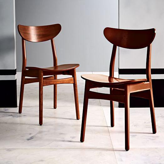 Classic Café Walnut Dining Chair   west elm