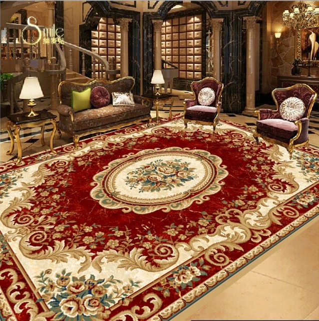3d wallpaper floor custom European virgin red carpet designs 3d