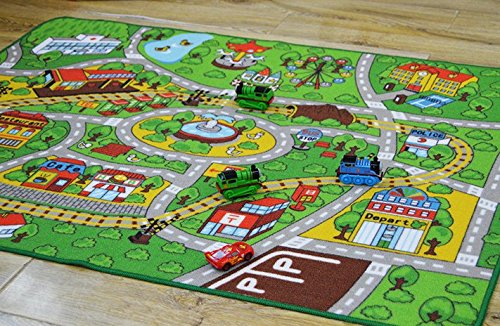 Toy Car Lover Popular Carpets Kids Room City Center Street Map