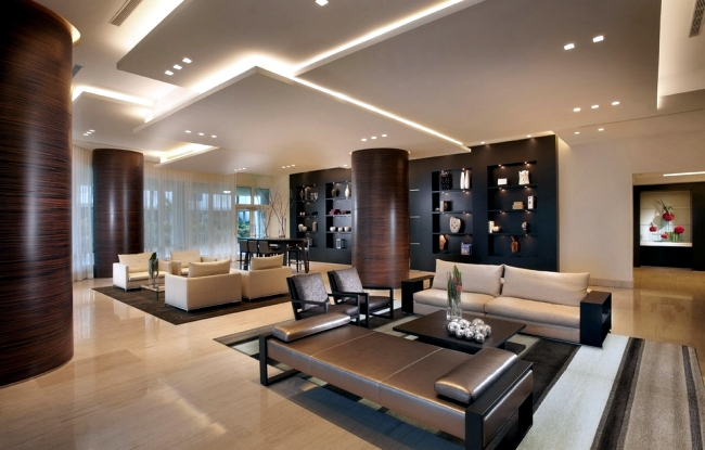 33 examples of modern living room ceiling design. | Interior Design