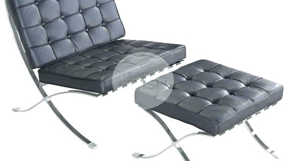 Awesome Decoration Model Chair With Ottoman With Barcelona Chair And
