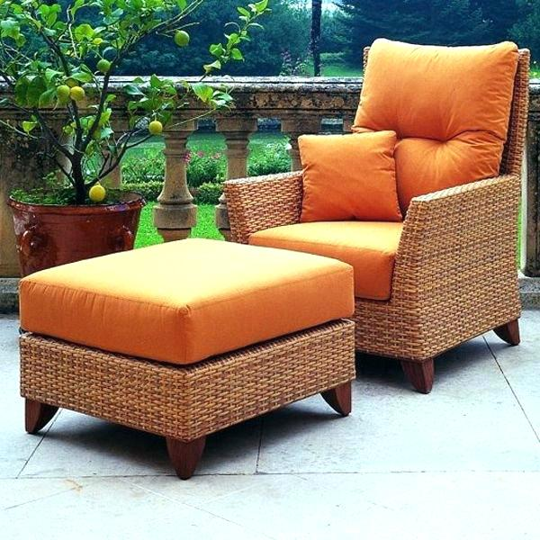 Resin Wicker Chair With Ottoman Ideas Patio Chair With Ottoman And