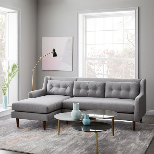 Crosby Mid-Century 2-Piece Chaise Sectional | west elm