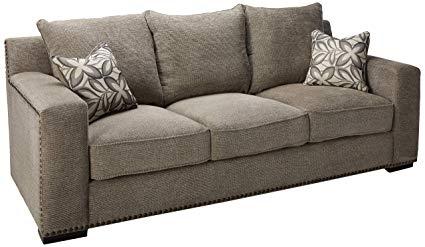 Amazon.com: ACME Ushury Gray Chenille Sofa with 2 Pillows: Kitchen