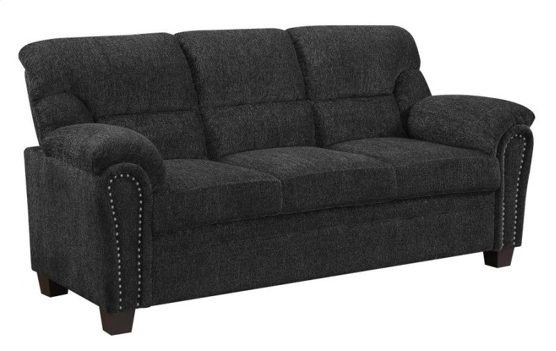 Clemintine Grey Chenille Sofa u2013 OC Homestyle Furniture