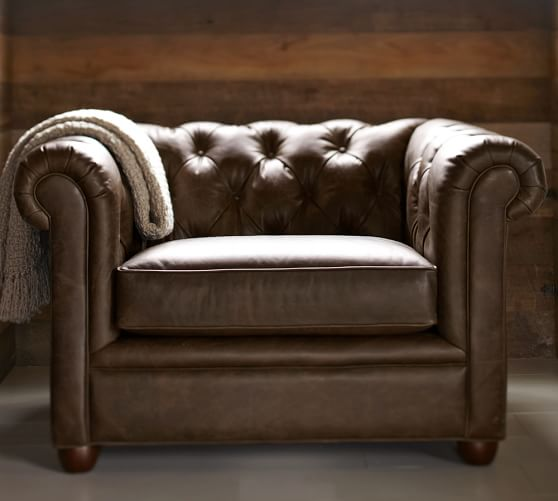 Chesterfield Leather Armchair | Pottery Barn