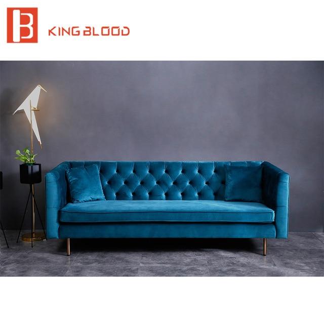 Turkish style Furniture Black Velvety 3 Seater Chesterfield Sofa