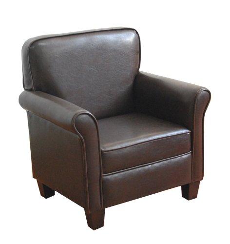 Amazon.com: HomePop K3334-E155 Youth Leatherette Club Chair Dark