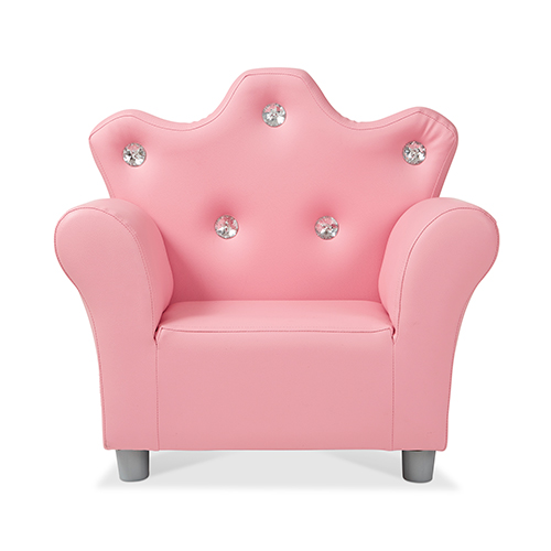 Childrens Leather Armchair, Pink, Ages 3+ Years - Power Sales