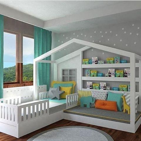 Children's room #childrensroom #kidsroom #twobeds #interior