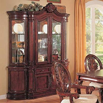 Amazon.com - Coaster CO-101034 Server/China Dark Cherry - China Cabinets