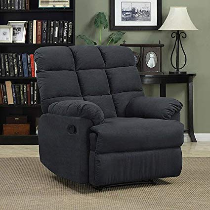 Amazon.com: Prolounger Wall Hugger Microfiber Biscuit Back Recliner