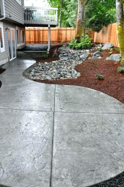 Small Concrete Patios Small Backyard Concrete Patio Small Concrete