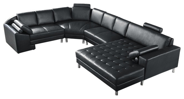 Series 2236 4-Piece Leather Sectional - Contemporary - Sectional