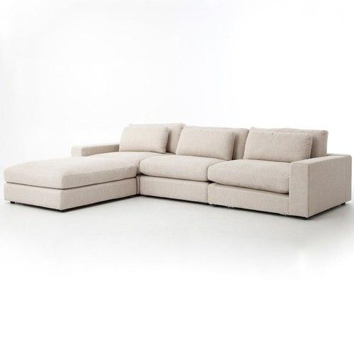 Bloor Beige Contemporary 4 Piece Sectional Sofa | Zin Home
