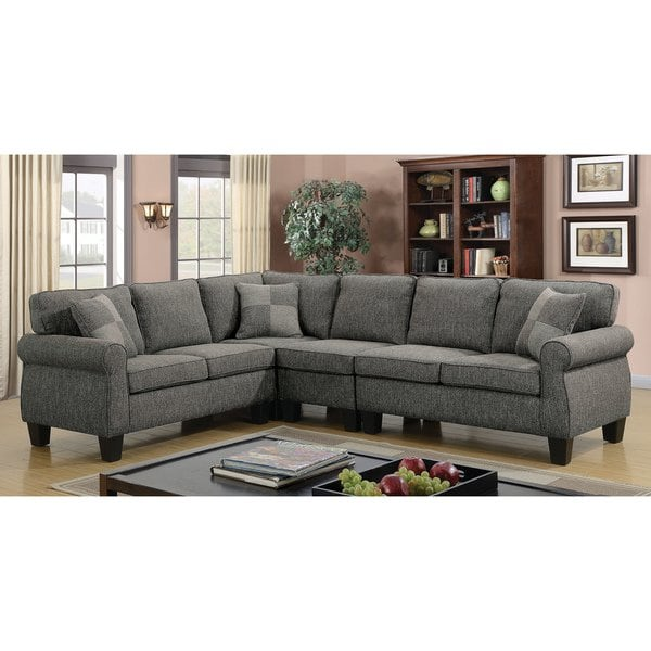 Shop Herena Contemporary 4-Piece Sectional by FOA - On Sale - Free