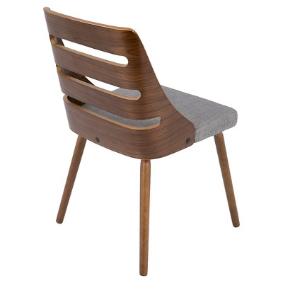 Trevi Mid Century Modern Dining Chair - Gray - LumiSource : Target