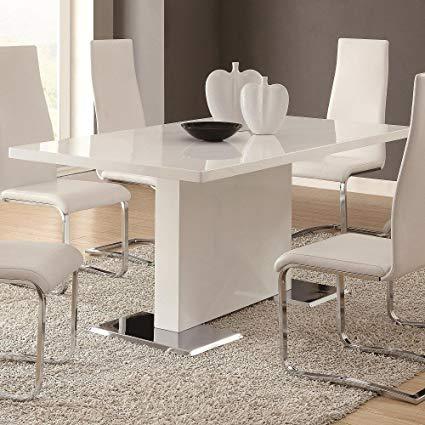 Amazon.com - Coaster Home Furnishings Glossy White Contemporary