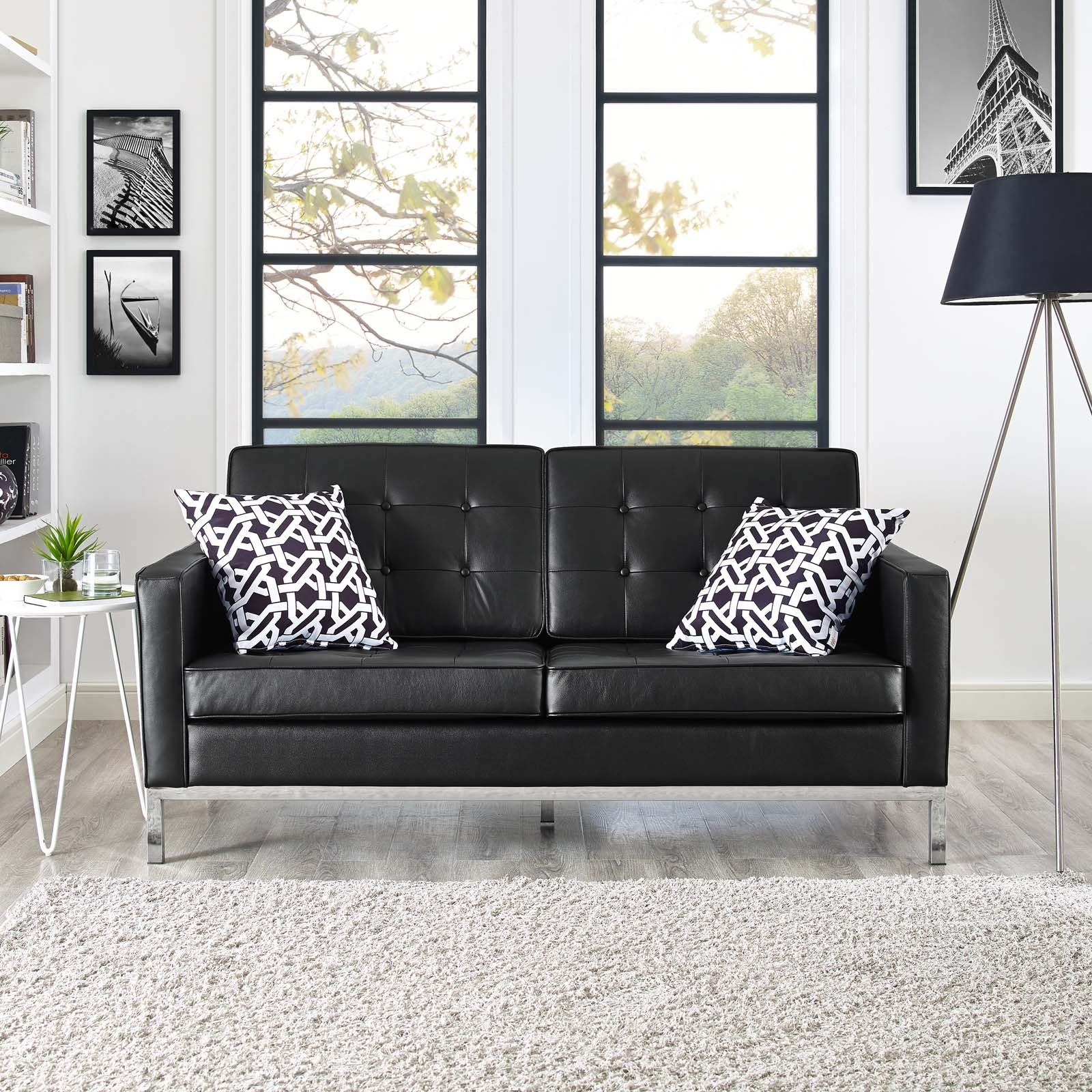 Loft Leather Loveseat | Contemporary & Modern Furniture | LexMod