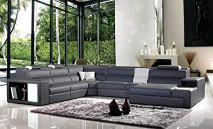 Amazon.com: Model: Polaris (5022) - Grey Contemporary Leather