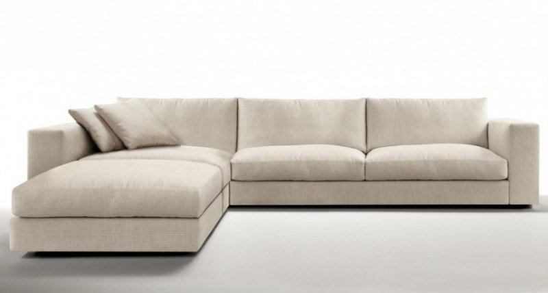 Contemporary grey sectional sleeper sofa