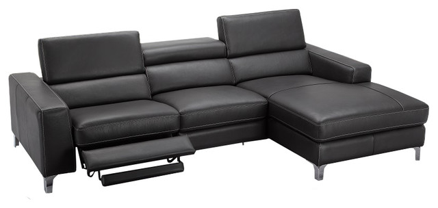 Ariana Italian Leather Sectional Sofa With Power Recliner