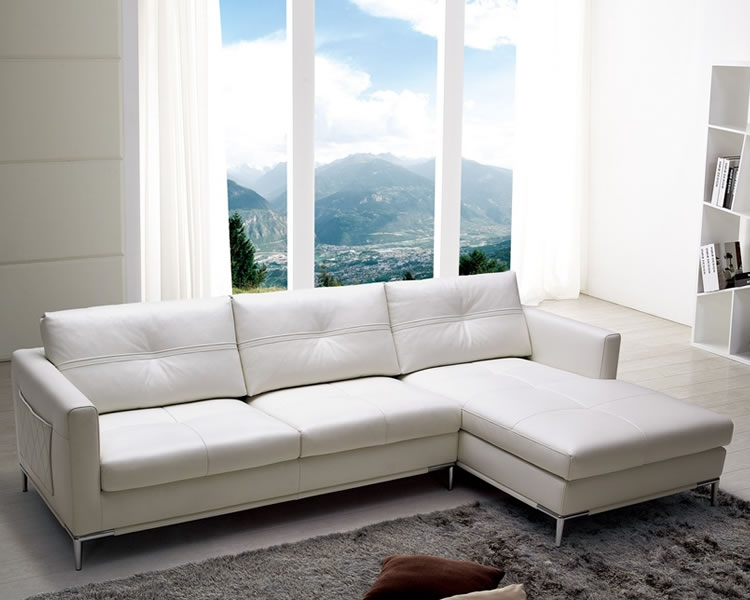 Pleasing Italian Leather Sectional Sofa Stores Chicago Modern